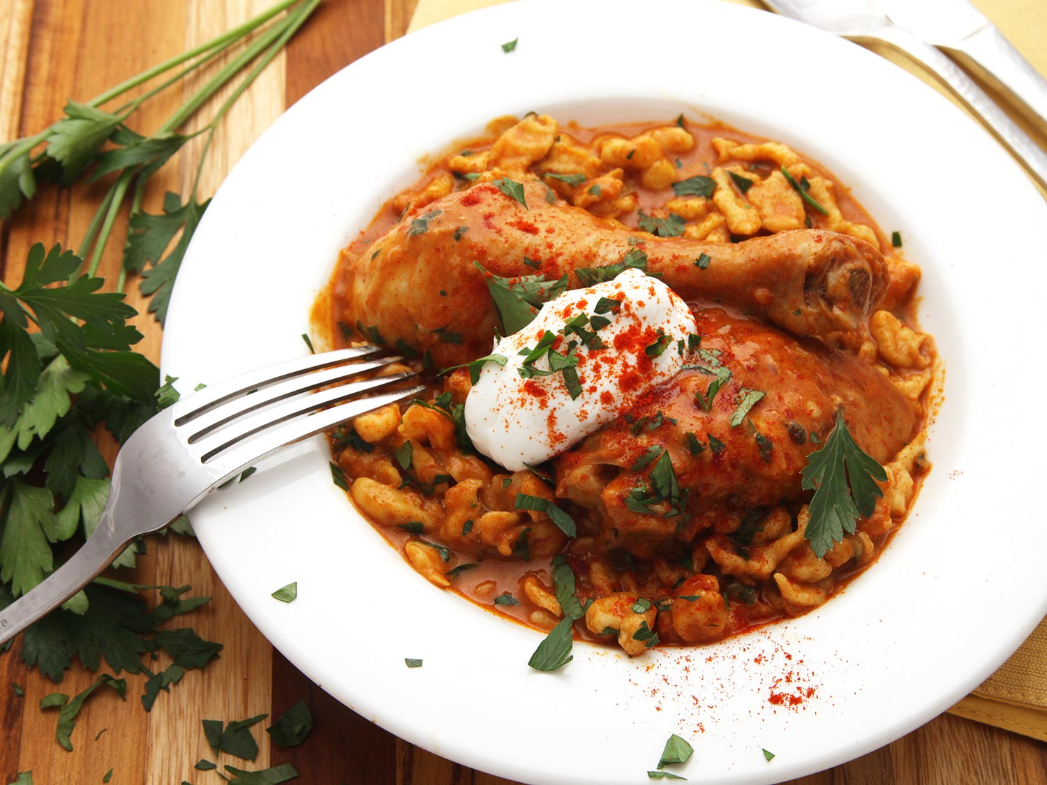 Food & Drink eHow Chicken cream fashion old paprika recipe sour