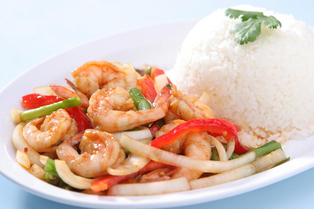 Shrimp with Sugar Snap Peas Shrimp with Sugar Snap Peas new foto