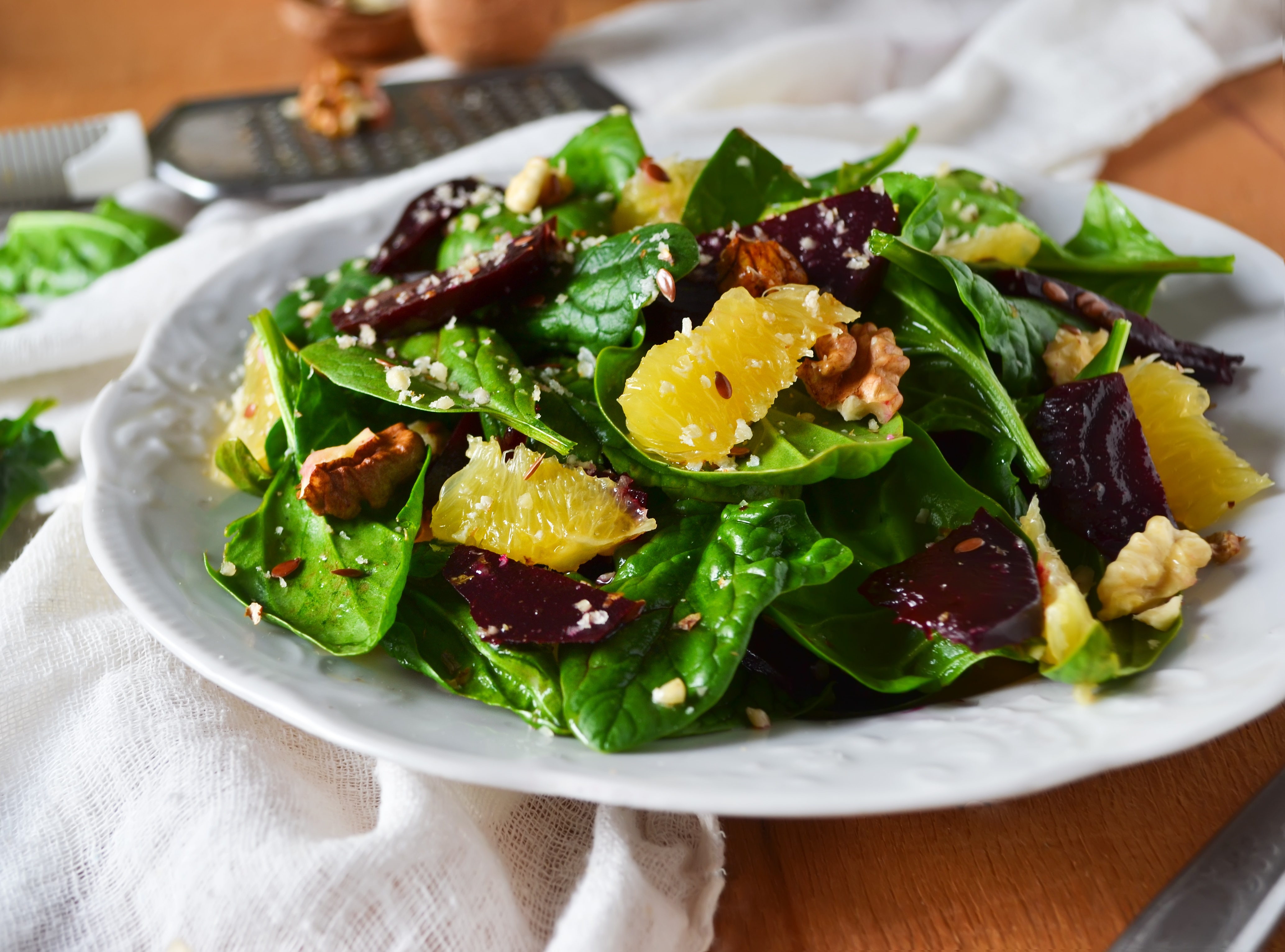 Baby Spinach & Roasted Beet Salad