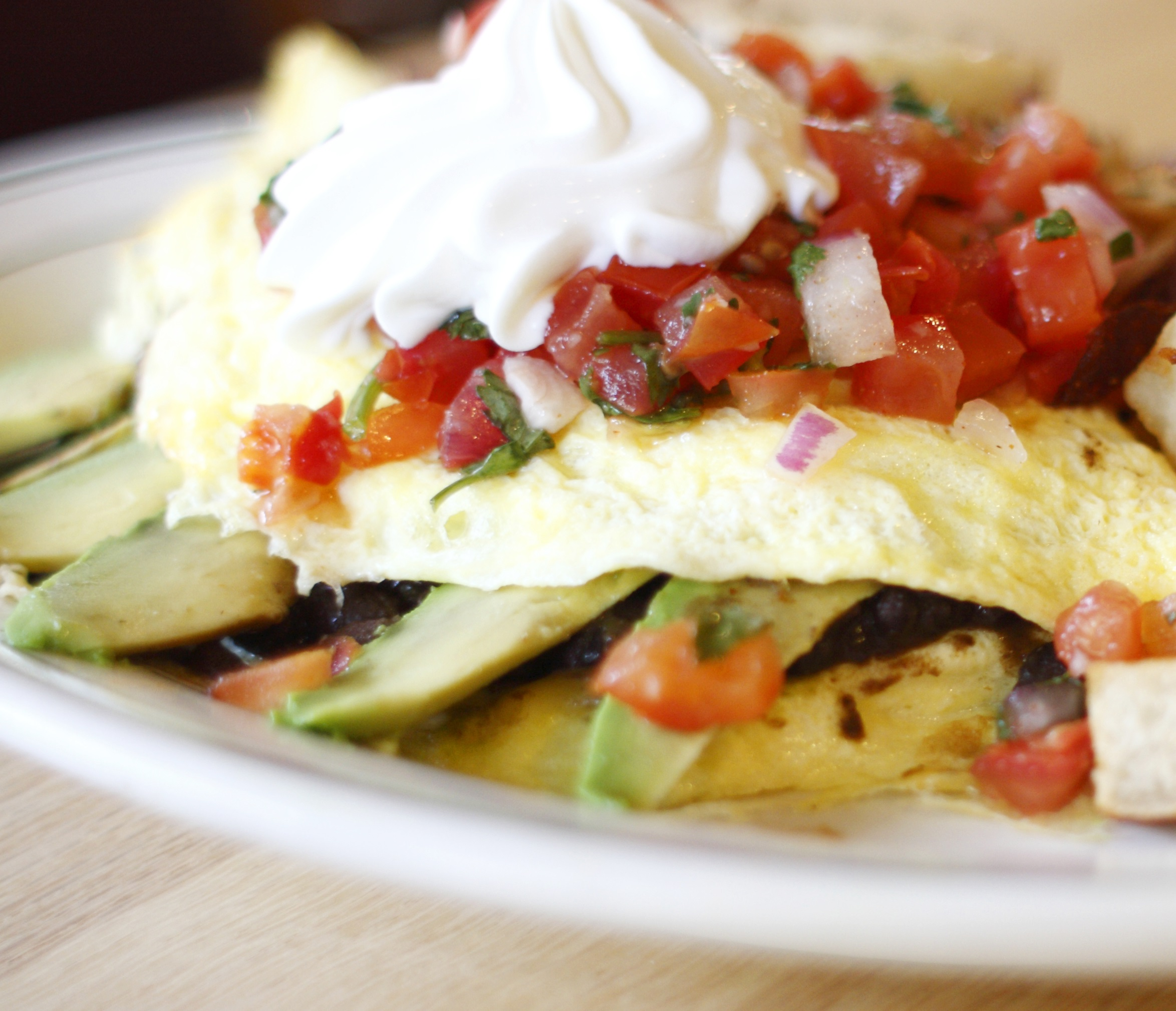 Bacon and Avocado Omelet with Salsa - BigOven