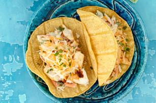 Baja fish tacos bigoven for Baja fish taco recipe