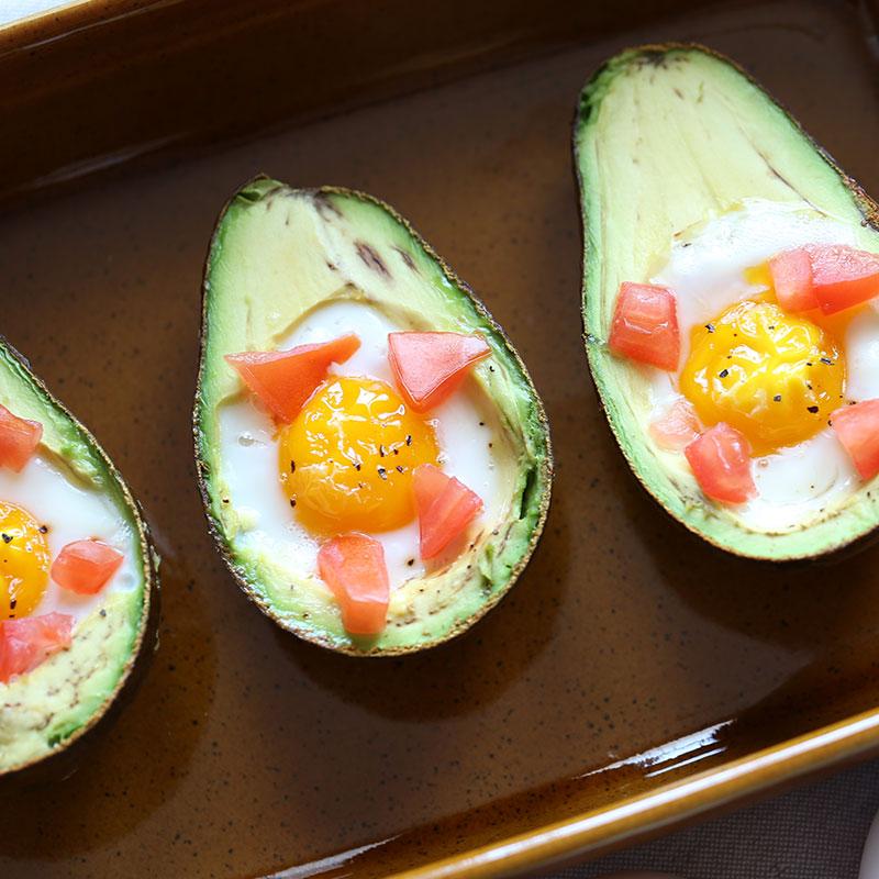 Baked Eggs & Avocados