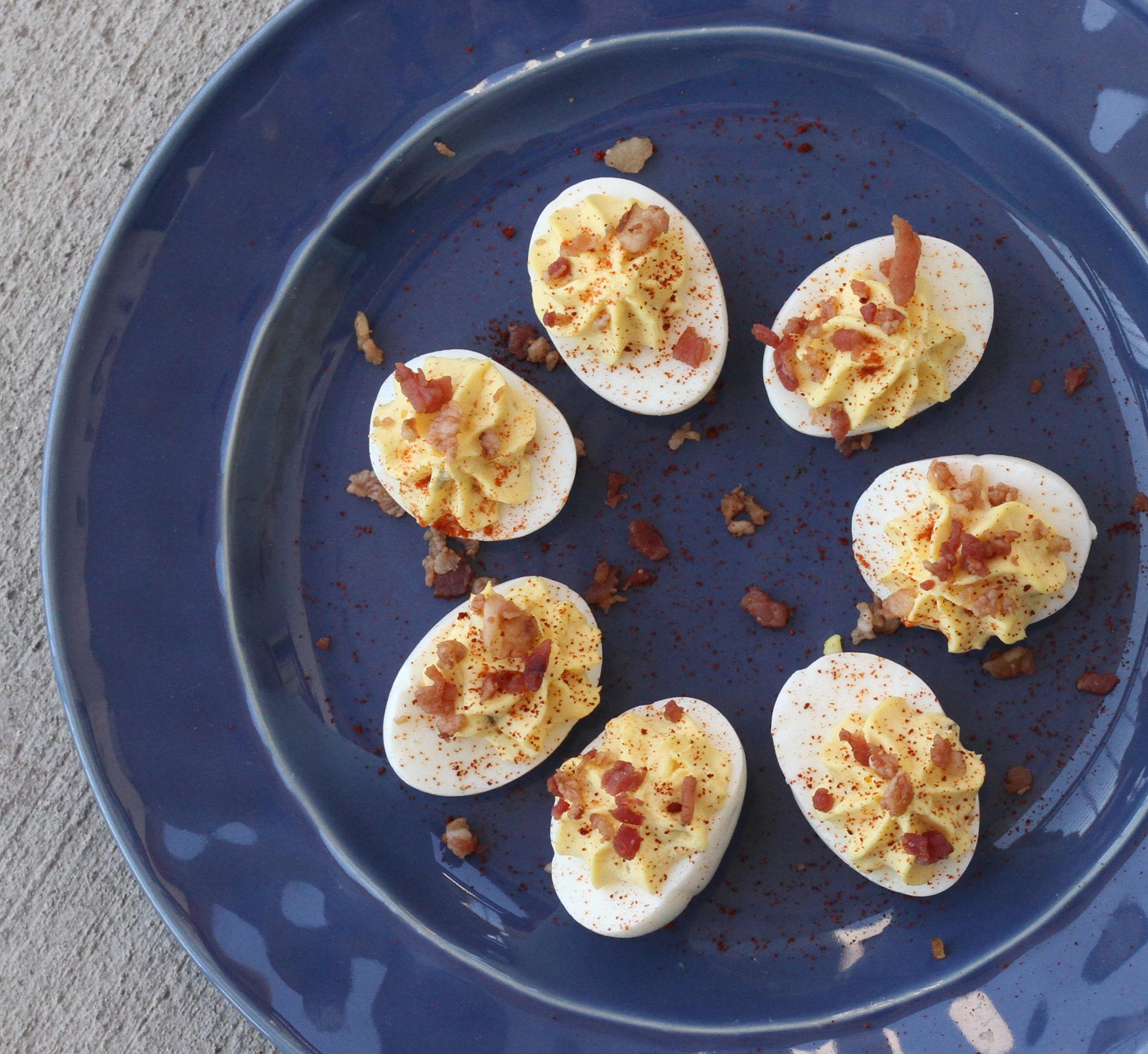 Barbecue Deviled Eggs