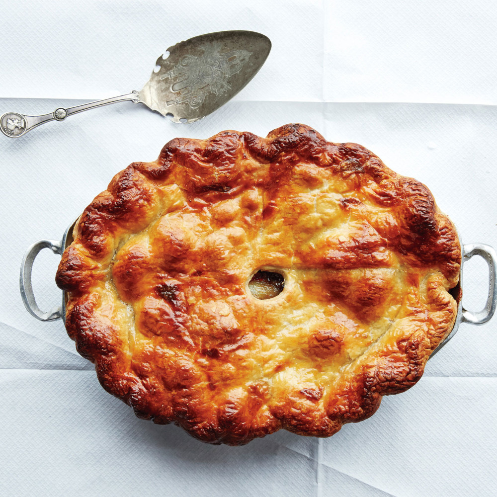 Beef & Red Wine Pot Pie Recipe — Dishmaps