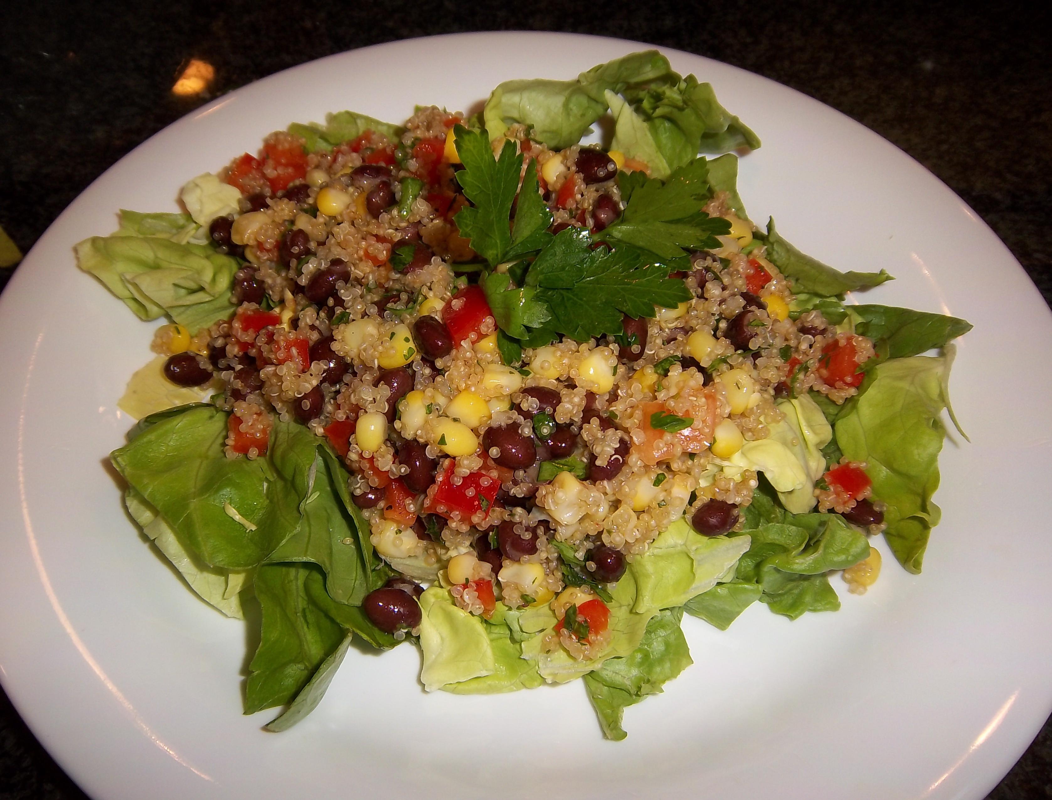 Black Bean, Red Pepper, Corn, and Quinoa Salad - BigOven
