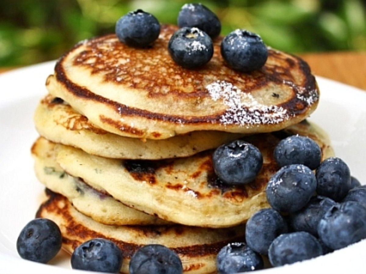 Blueberry Yogurt Pancakes - BigOven