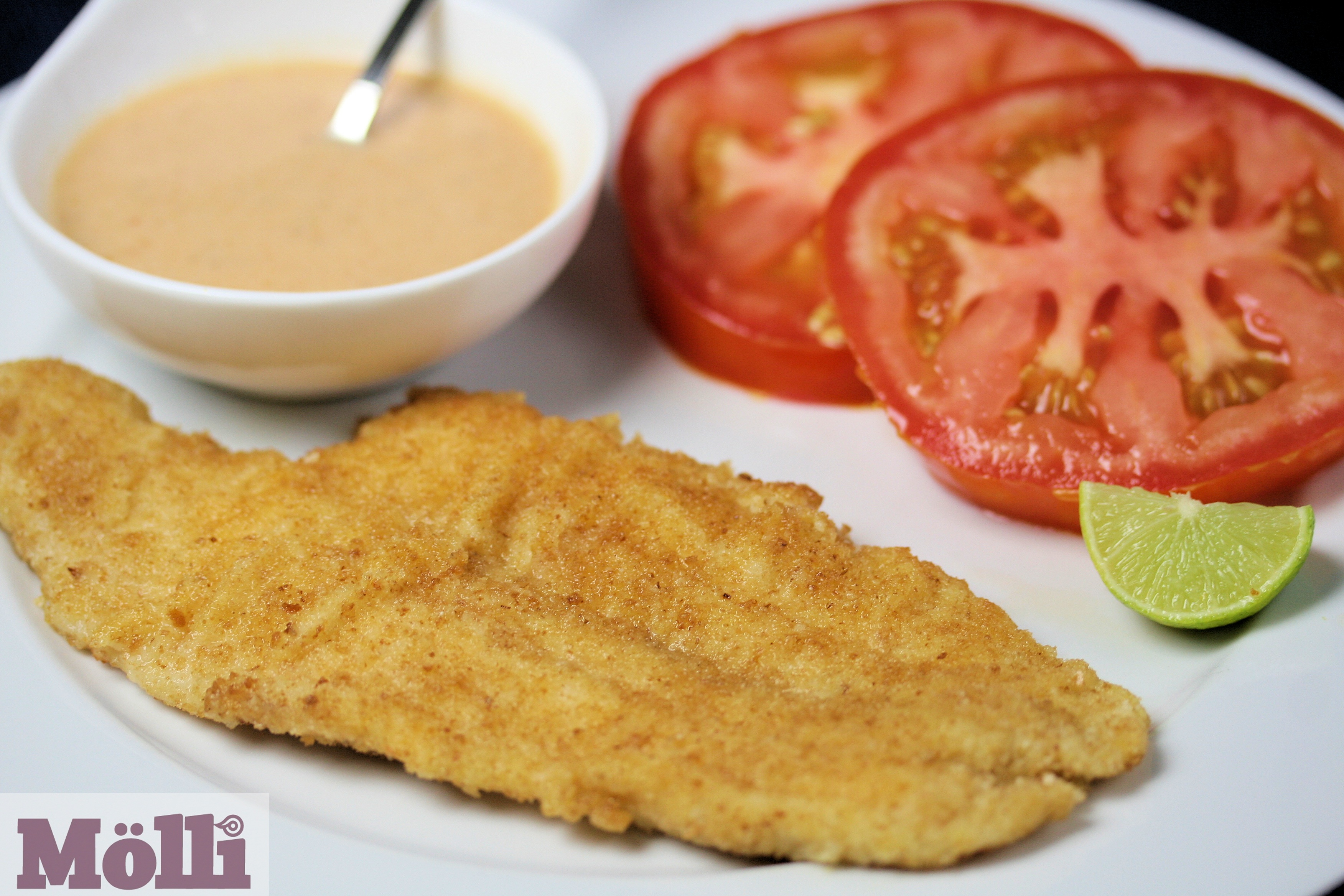 Breaded fish fillets with tomato chipotle mayonnaise for How to make breaded fish