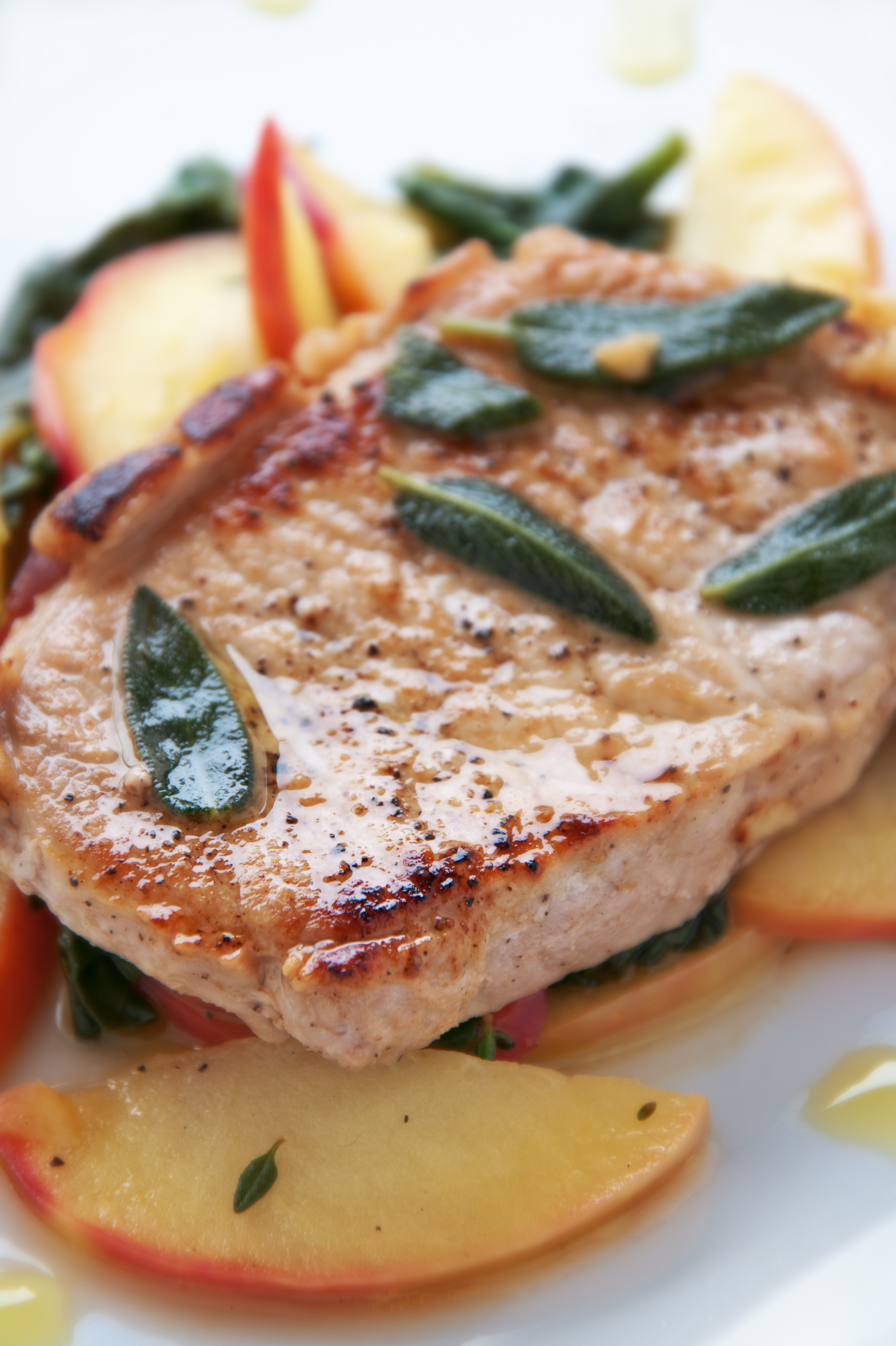 Caramel Apple Pork Chops - BigOven
