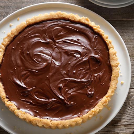 Cashew Tart with Chocolate Pie Filling - BigOven
