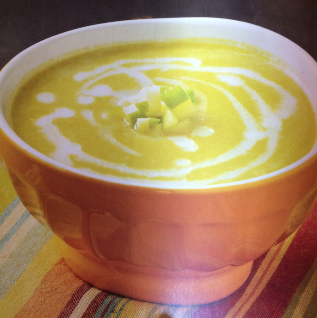 Celery root and leek soup with green apple - BigOven