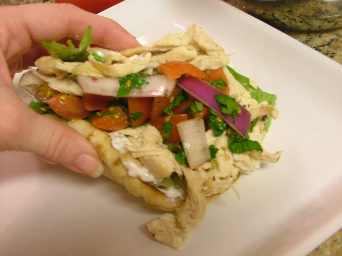 Chicken Gyros with Cucumber Salsa and Tsatsiki - BigOven
