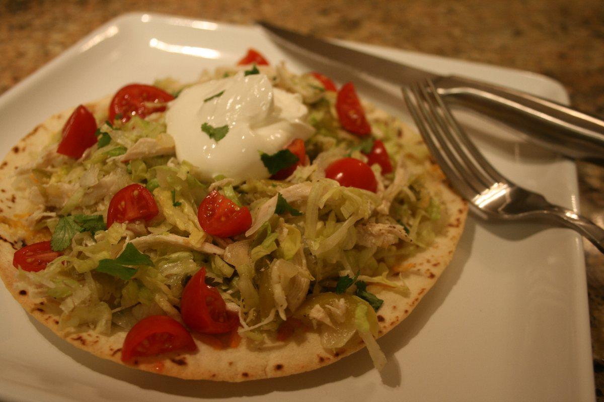 Chicken Tostada Salad with Salsa Verde - BigOven
