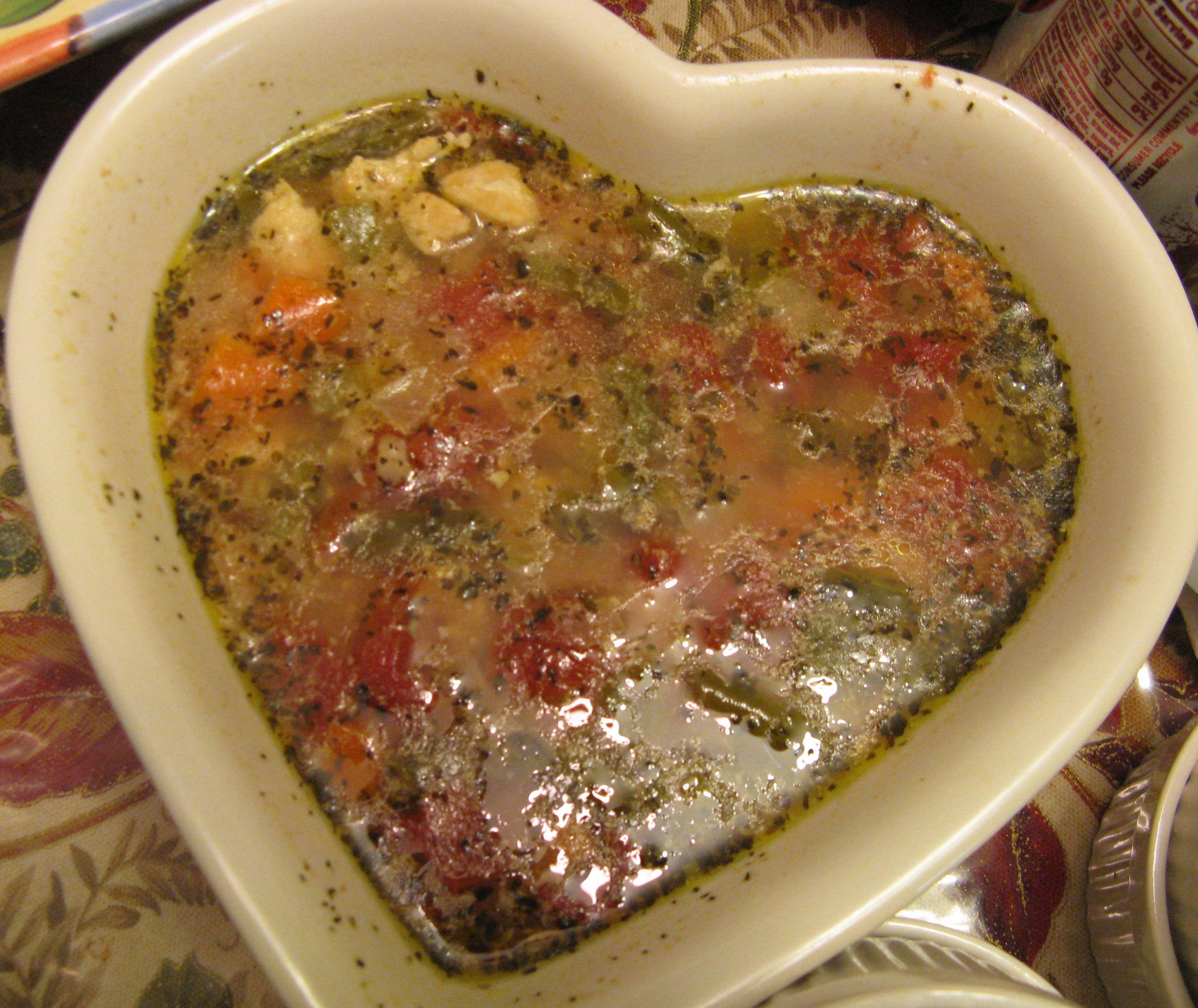 Mediterranean Style Chicken Recipe: Chunky Chicken Soup, Mediterranean Style
