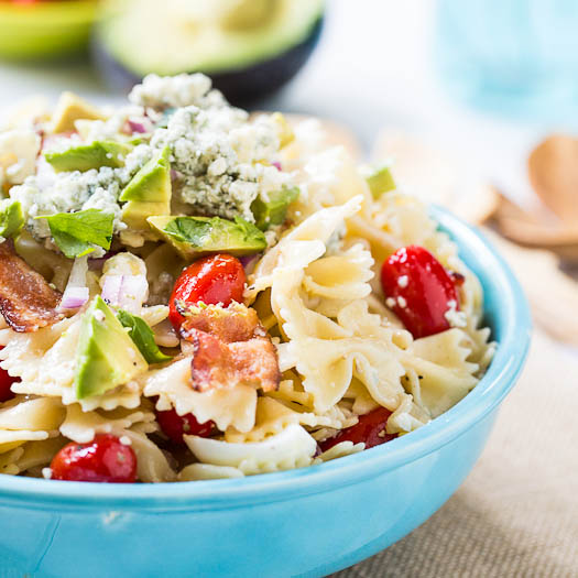 cobb pasta salad from the spicy southern kitchen - Spicy Southern Kitchen