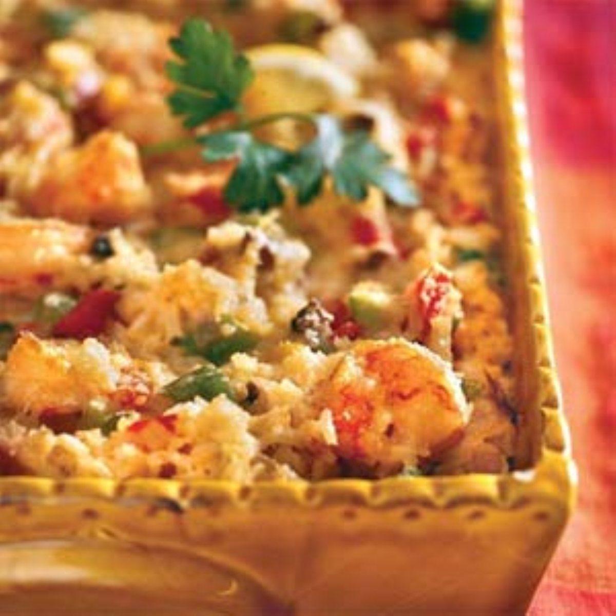 Creamy corn and shrimp casserole bigoven for Fish casserole recipes