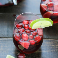 Cranberry Lime Sangria