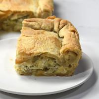 Greek Leek Pie with Homemade Phyllo Dough