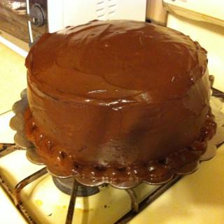 Surprising Big Chocolate Birthday Cake Recipe Personalised Birthday Cards Veneteletsinfo