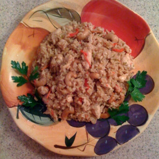 Chicken Risotto with Cashew Nuts