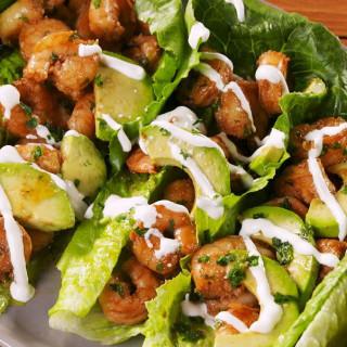 Cilantro-Lime Shrimp Wraps