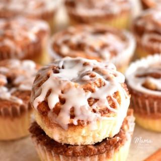 Cinnamon Roll Muffins {Gluten-Free, Dairy-Free Option}