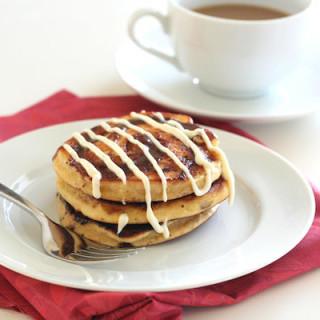 Cinnamon Roll Pancakes (Low carb, Gluten Free)