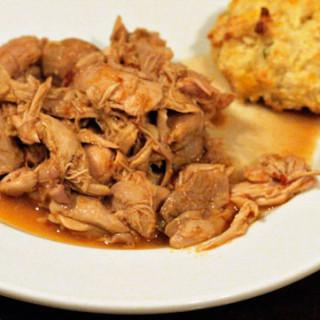 Slow Cooker Rauchbier Pulled Chicken