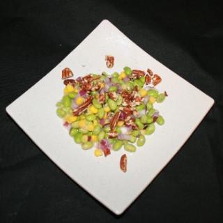 Corn and Edamame Salad with Walnut-miso Dressing