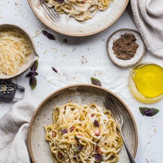 Creamy Mushroom Chicken Spaghetti