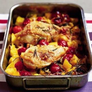 Crisp Italian chicken and polenta