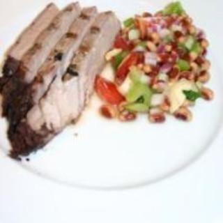 Grilled Tuna with Black-Eyed Pea Salad