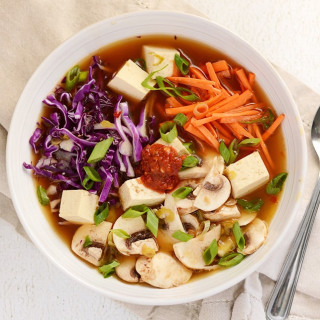Hot and Sour Vegetable Soup with Tofu