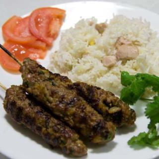 Lamb Kofta with chickpea rice