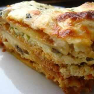 Lasagna with homemade sauce
