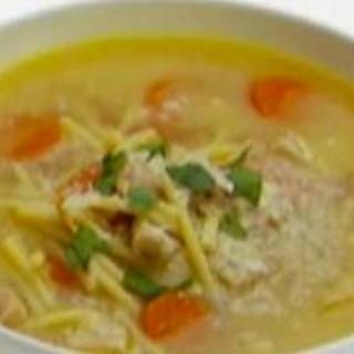 Lemon Chicken Soup with Spaghetti