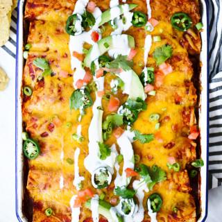Low Calorie Chicken Enchiladas