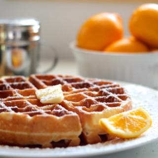 Meyer Lemon Buttermilk Waffles
