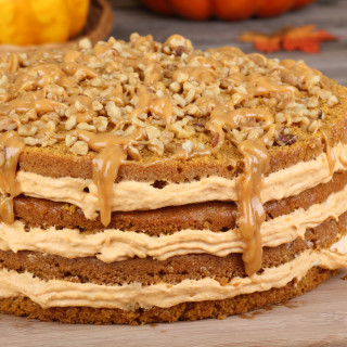 Oregonian - Thanksgiving Spiced Layer Cake with Pumpkin Cream Frosting