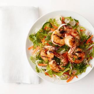 Rice Noodle-Shrimp Salad