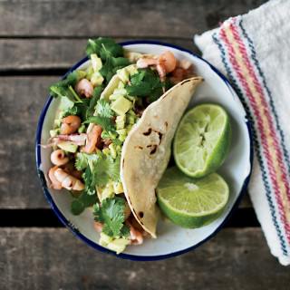 Seafood-Chorizo Tacos