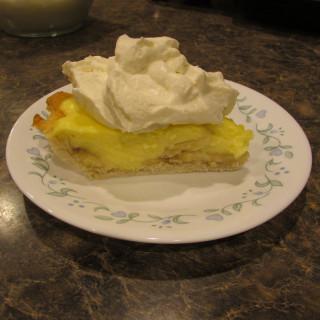 Banana Cream Pie made with Splenda