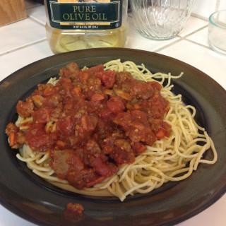 Spaghetti Sauce with Ground Beef & Sausage