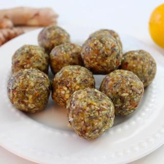 Turmeric, Ginger and Lemon Energy Balls