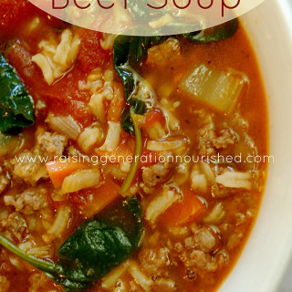Vegetable Beef Soup :: Gluten Free With Grain Free Option