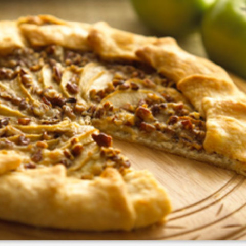 Alouette Cheese and Apple Galette Recipe