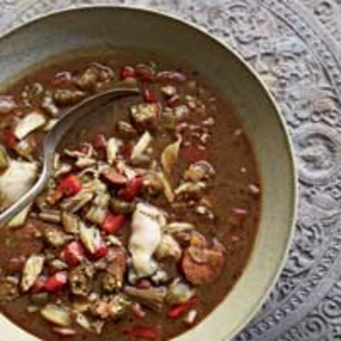 Andouille, Crab and Oyster Gumbo