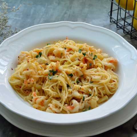 Angel Hair Pasta with Seafood Sauce
