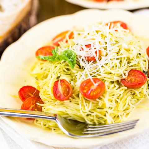 Angel Hair Pasta with Lemon & Garlic