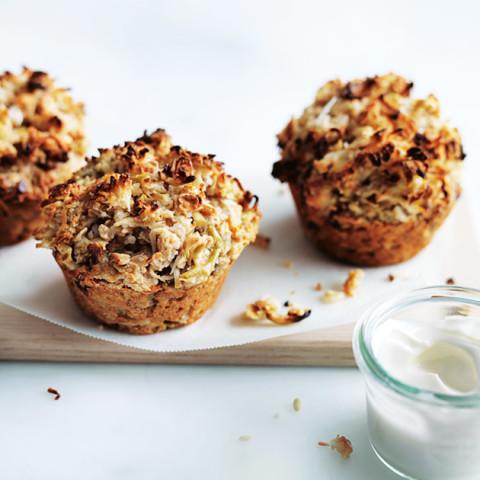 Apple Oat And Coconut Bircher Muffins