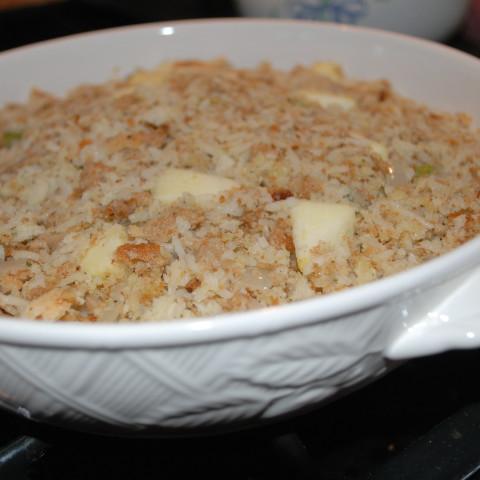 Apple Pecan Rice & Bread Turkey Stuffing